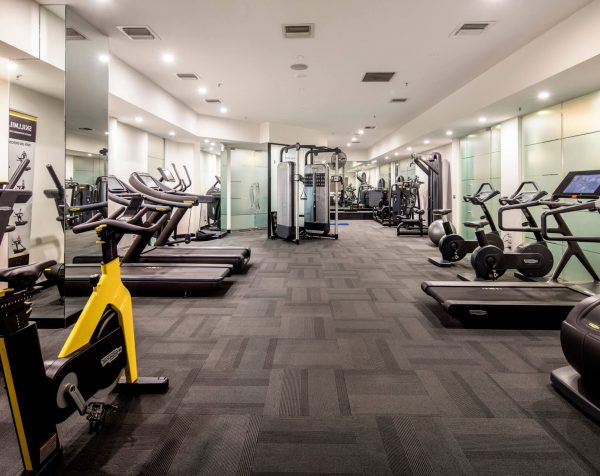 Gym at St Kilda Road Towers serviced offices Melbourne