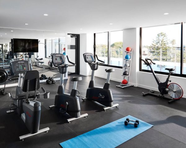 Gym at The Johnson offices, Brisbane